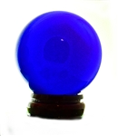80mm GLASS BLUE CRYSTAL BALL