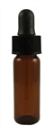 Glass Bottle with Dropper, 1 dram, amber glass