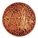 TREE AND PENTAGRAM WALL PLAQUE