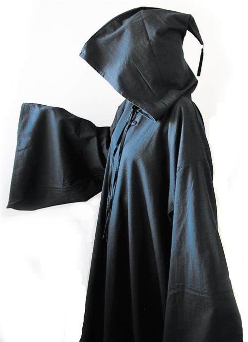 Black Hooded Robe