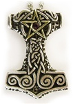 THORS HAMMER WITH PENTACLE
