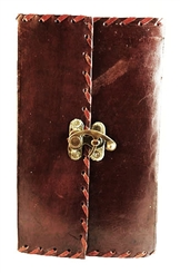 LEATHER JOURNAL WITH LATCH