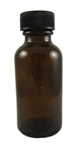 12 oz. Glass Bottle w cap,amber