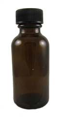 2 Ounce Glass Bottle with Plastic Lid