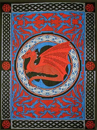 Celtic Dragon Tapestry