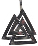 PEWTER VALKNUT WITH BRONZE FINISH