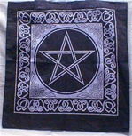 TOTE BAG WITH PENTAGRAM & CELTIC DESIGN