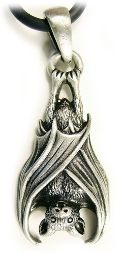 vampire bat black jet pendant hv hollywood necklace store rhodium vampires plated