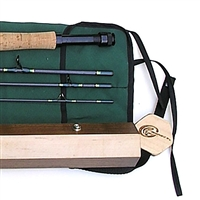 wood fly rod, spinning rod case - the ultimate fishing collector's gift