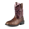 Ariat 10009494 Women's Krista Dark Tan Pull-On Steel Toe Boot