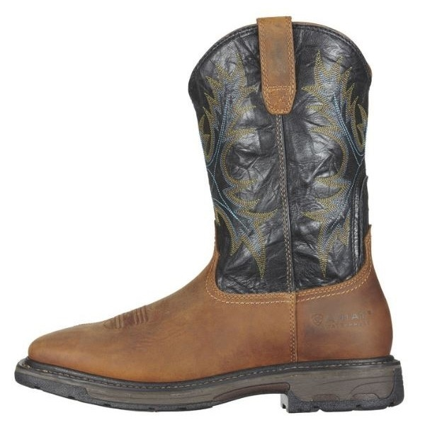 00c333dae15 Ariat 10010133 Workhog Square Toe H2O Steel Toe Aged Bark Boot