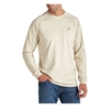 Ariat 10012254 Men's Sand Long Sleeve Flame Resistant Crew Shirt