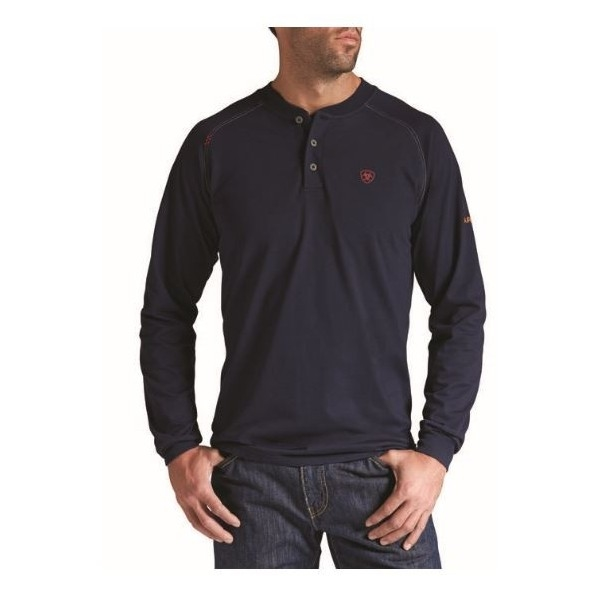 Navy Bulwark FR Men/'s Long Sleeve Flame Resistant Work Shirt