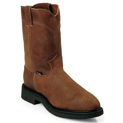 "Justin 4764 10"" Aged Bark Slip On Work Boot"