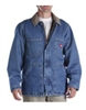 Dickies 77-293 Stonewashed Indigo Blue Denim Zip Front Chore Coat