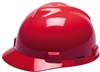 MSA 475363 Red V-Gard Non-Slotted Cap With Fas-Trac III Suspension
