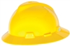 MSA 475366 Yellow V-Gard Slotted Hard Hat With Fas-Trac III Suspension