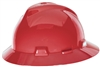 MSA 475371 Red V-Gard Slotted Hat With Fas-Trac III Suspension