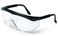 Crews SS110 Stratos Safety Glasses - Clear Lens Black Frame