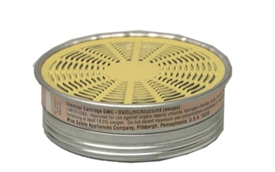 MSA 464046 GMC (OV/AG) Comfo Chemical Respirator Cartridge