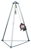 Miller MR100GC-Z7/100FT MightEvac Confined Space Self-Retracting Lifeline With Hoist - 100' Unit With Galvanized Wire Rope And 7' Tripod