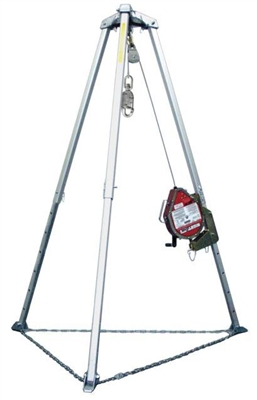 Miller MR50GC-Z7/50FT MightEvac Confined Space Self-Retracting Lifeline With Hoist - 50' Unit With Galvanized Wire Rope And 7' Tripod