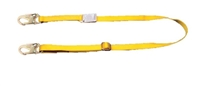 "MSA 415108 4' Fixed Single Leg 5/8"" Rope Restraint Lanyard With RL20 Harness Connection And RL20 Anchorage Connection"