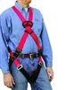 MSA 415946 FP Pro Cross-Chest Harness - XL With Qwik-Fit Leg Buckles And (1) Back (2) Hip D-Rings
