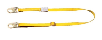 MSA 505088 6' Adjustable Single Leg Restraint Lanyard With HL2000 Harness Connection And HL2000 Anchorage Connection