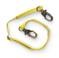 MSA 505204 6' Adjustable Single Leg Restraint Lanyard With RL20 Harness Connection And RL20 Anchorage Connection