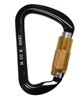 "MSA 506259 7/8"" Gate Twist Lock Auto-Locking Aluminum Carabiner"