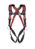MSA 10041615 TechnaCurv Full-Body Harness  Std Vest-Type W/Shoulder/Sub-Pelvic Padding Qwik-Fit & Secure-Fit Leg Buckles & 1 Back 1 Chest 2 Hip D-Ring
