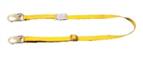 MSA 10056762 5' Single Leg Adjustable FP5K Tie-Back Shock Absorbing Lanyard - Web - Less Sure-Stop
