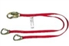 MSA 10059837 Twin Leg CSA Diamond Shock-Absorbing Lanyard - Swivel LS Snap Harness Connection And (2) GL3100 Anchorage Connection