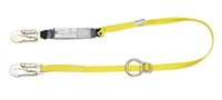 MSA 10072472 Single Leg Tie-Back Workman Shock-Absorbing Lanyard With LC Harness Connection And LC Anchorage Connection
