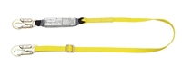 MSA 10072474 Single Leg Adjustable Workman Shock-Absorbing Lanyard With LC Harness Connection And LC Anchorage Connection