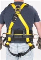 MSA 10072483 Workman Harness - Standard With Qwik-Fit Chest And Leg Buckles With Back And Hip Attach