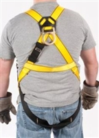 MSA 10072488 Workman Harness - XL With Qwik-Fit Chest And Tongue Leg Buckles With Back Attach