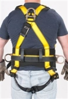 MSA 10072492 Workman Harness - XL With Qwik-Fit Chest And Tongue Leg Buckles With Back And Hip Attach