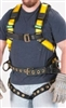 MSA 10072497 Workman Harness - SXL With Qwik-Fit Chest And Tongue Leg Buckles With Back And Hip AttachmentAnd Integral Back Pad And Tool Belt