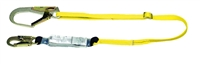 MSA 10076124 Single Leg Adjustable Workman Shock-Absorbing Lanyard With LC Harness Connection And GL3100 Anchorage Connection
