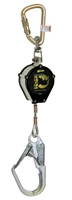 Miller CFL-2-Z7/9FT Black Rhino Self-Retracting Lifeline W/Steel Twist-Lock Carabiner Unit Connector & Swivel Snap Hook W/Load Indicator End Connector