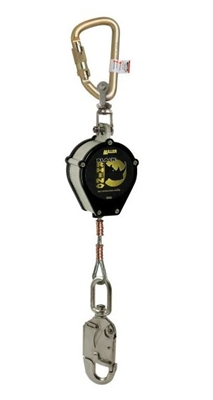Miller CFL-4-Z7/9FT Black Rhino Self-Retracting Lifeline W/Carabiner & SS Swivel Unit Connector & Swivel Snap Hook W/Load Indicator End Connector