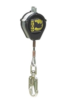 Miller CFL-5-Z7/9FT Black Rhino Self-Retracting Lifeline W/Rebar Hook & SS Swivel Unit Connector & Swivel Snap Hook W/Load Indicator End Connector