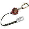 Miller PFL-4-Z7/9FT Scorpion Personal Fall Limiter With Carabiner And Swivel Shackle Unit Connector And Locking Snap Hook Lanyard End Connector