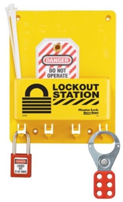 Master Lock S1705P410 Compact Lockout Station