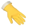 "MCR 5270 Yellow 18 Mil 13"" Unsupported Latex Flock Lined Glove With Straight Cuff"
