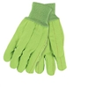 MCR 9018CDG Double-Palm Nap-In Canvas Glove - Green Hi-Vis Cord Quilted Knit Wrist