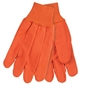 MCR 9018CDO Double-Palm Nap-In Canvas Glove - Orange Hi-Vis Cord Quilted Knit Wrist