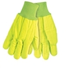 MCR 9018CDY Double-Palm Nap-In Canvas Glove - Yellow Hi-Vis Cord Quilted Knit Wrist